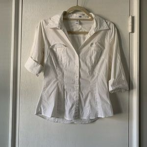 H&M Tops - H&M 3/4 length sleeve fitted dress shirt